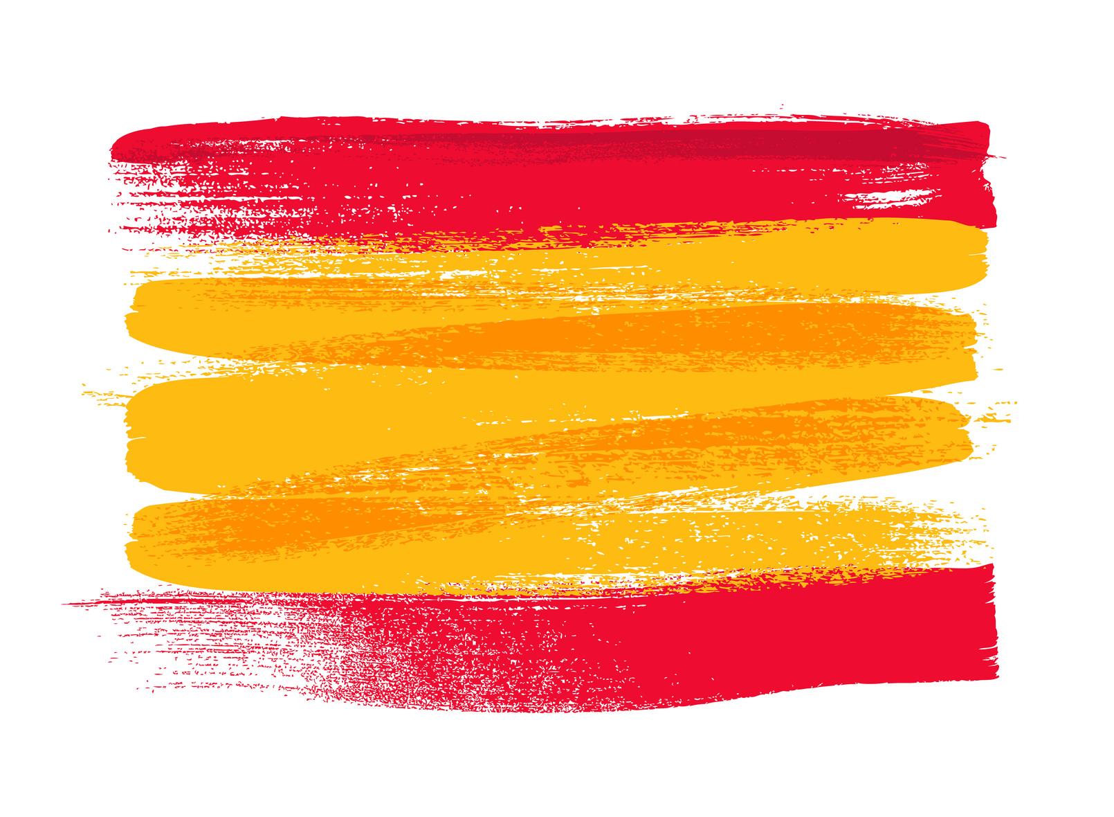 Hier ist die Spanische Flagge zu sehen.