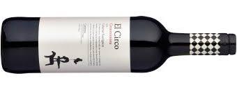 Flasche Rotwein El Circo der Rebsorte Tempranillo aus dem Anbaugebiet Carinena in Spanien.