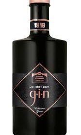 Schwarze Flasche Lemberger Gin