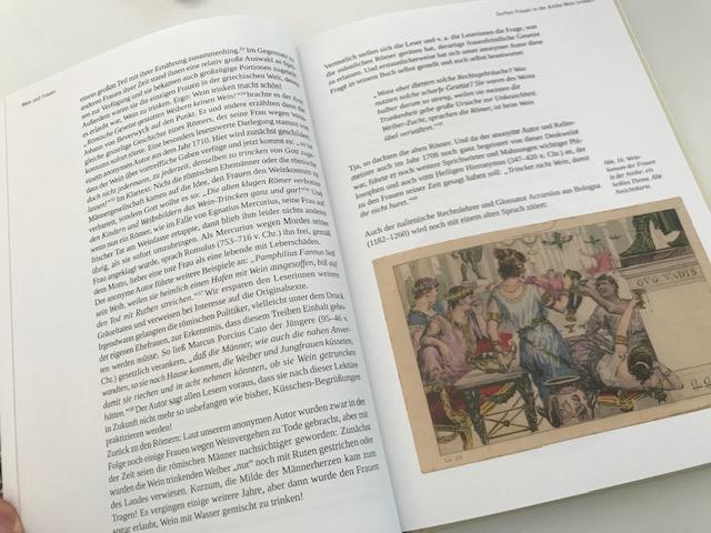 Innenseite mit Illustration im Buch Wein ist Kult